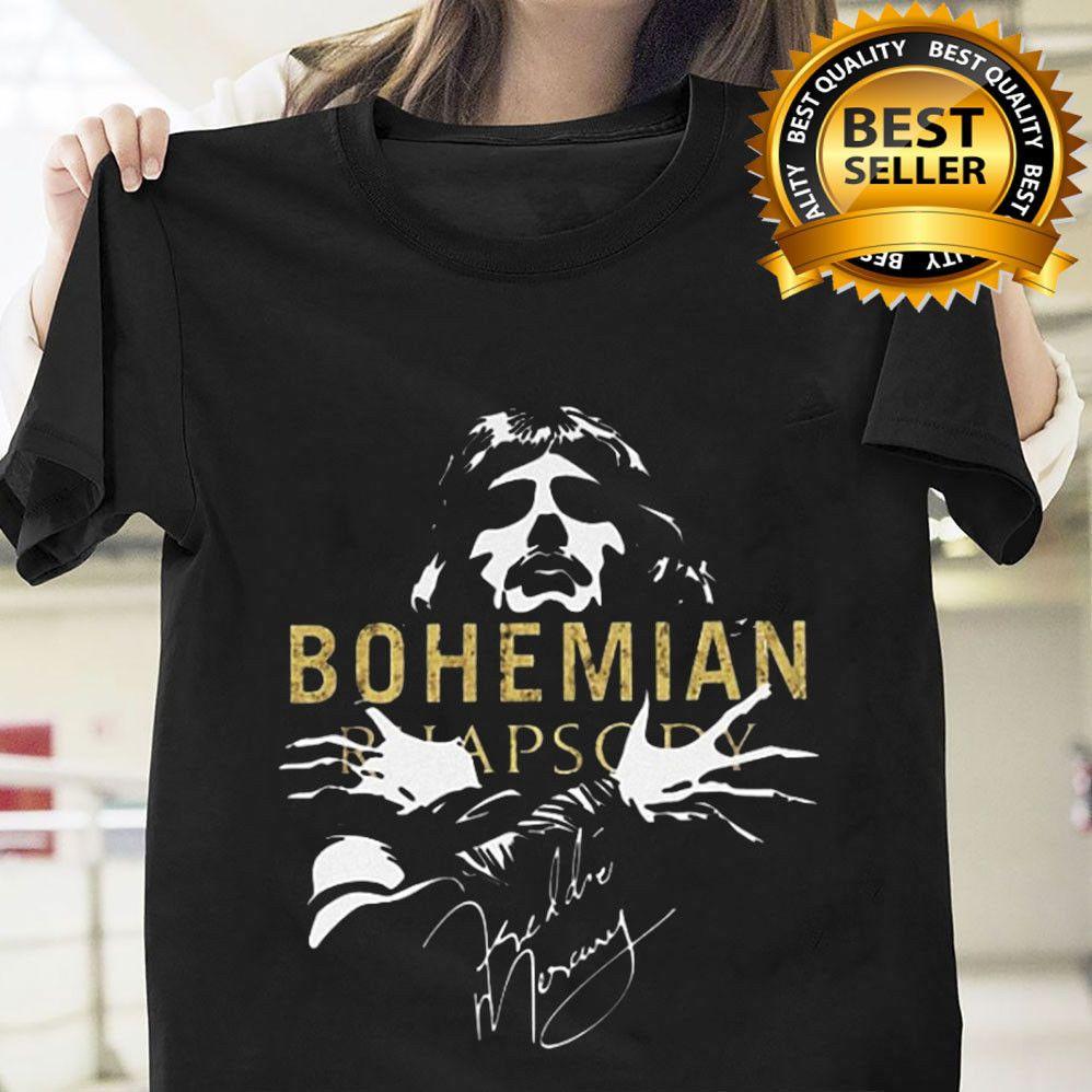 bdba62ac QUEEN Freddie Mercury Bohemian Rhapsody Signature T Shirt Full Size  #SpiderStore #GraphicTee