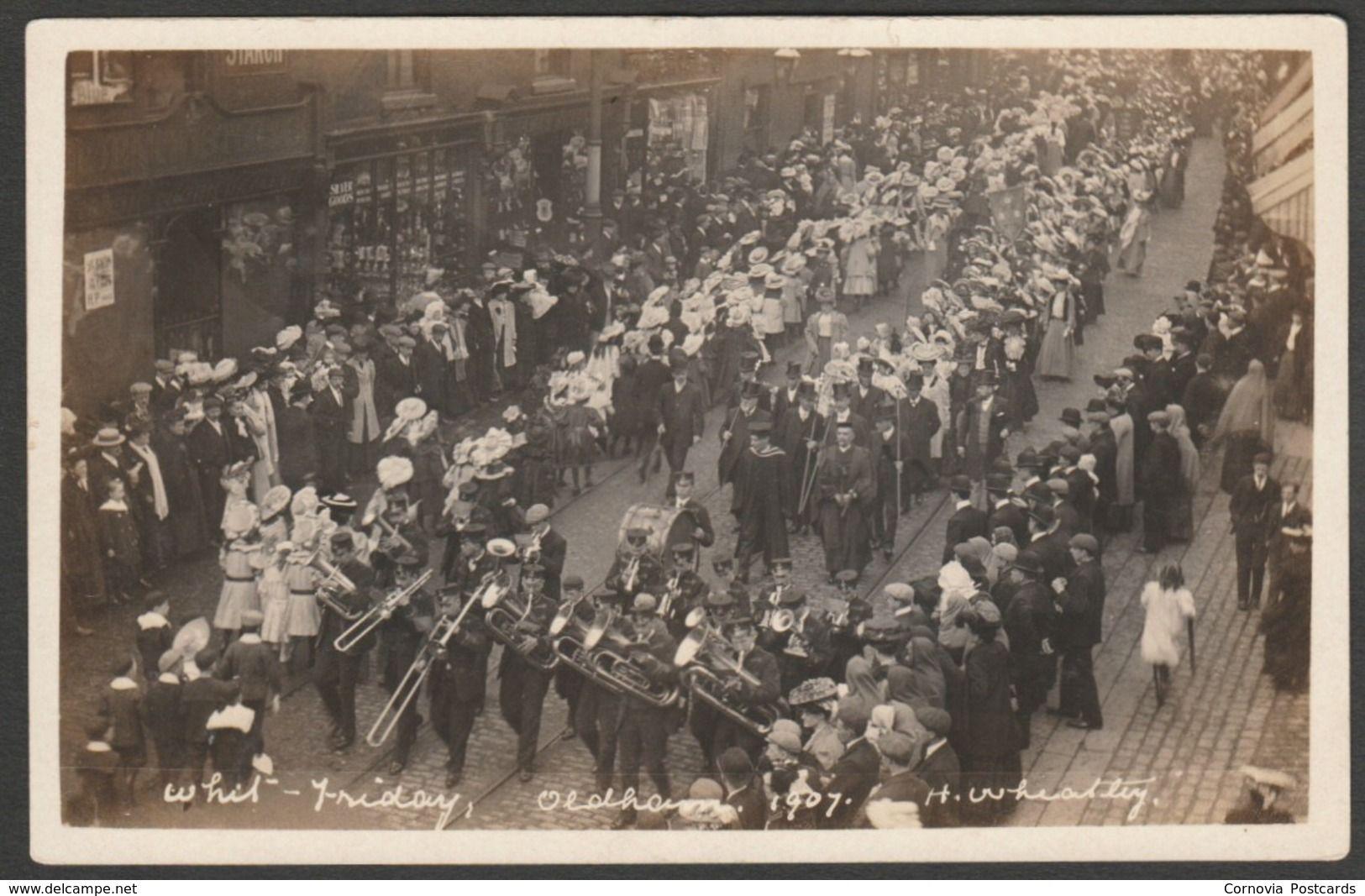 "Whit Friday Walk, Oldham, Lancashire, 1907 - Wheatley RP Postcard "" | For  sale on Delcampe"" | Postcard, Lancashire, Postcards for sale"