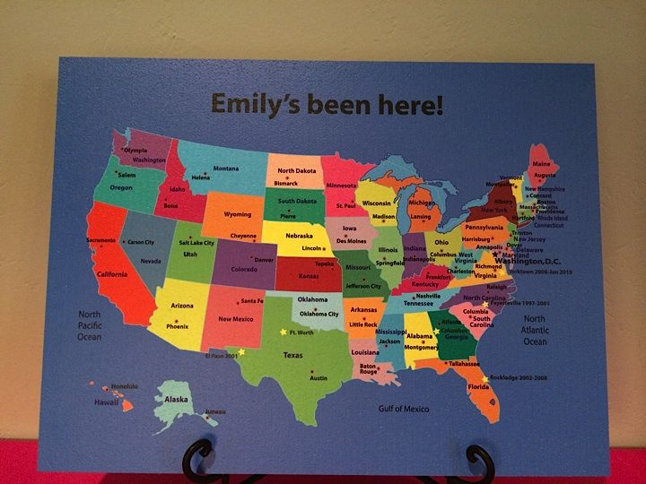 The United States Map On A Cool Corks Bulletin Board So You Can - Us states i ve been to map