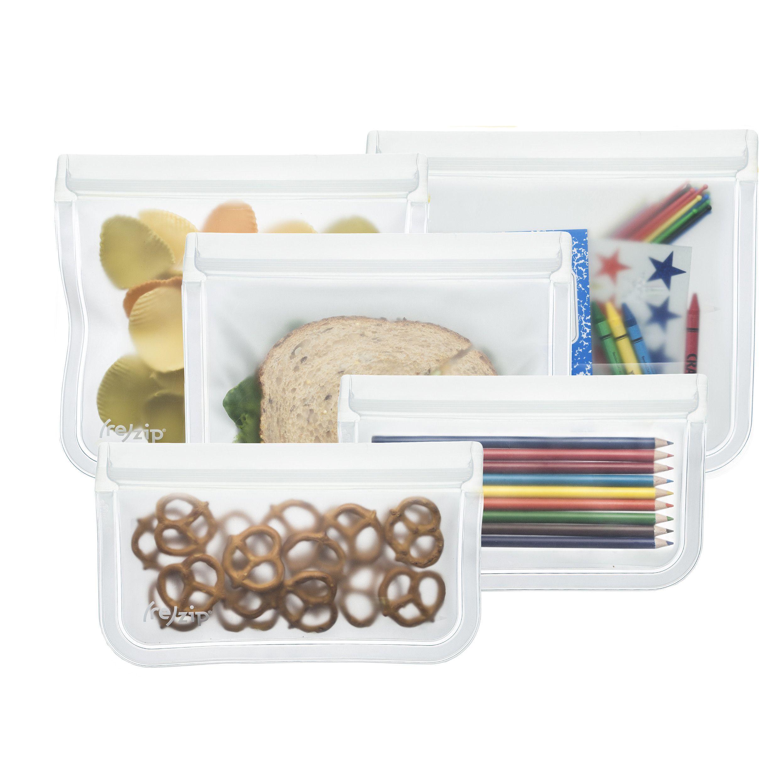 193dd7382d0 re)zip 5-Piece Lay-Flat Starter Leakproof Reusable Storage Bag Kit ...
