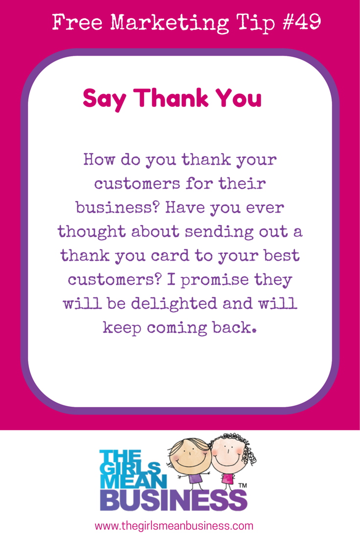 How do you thank your customers for their business? Have you ever ...