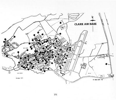 Map of Clark Air Base 1971, Philippines | Philippines History in