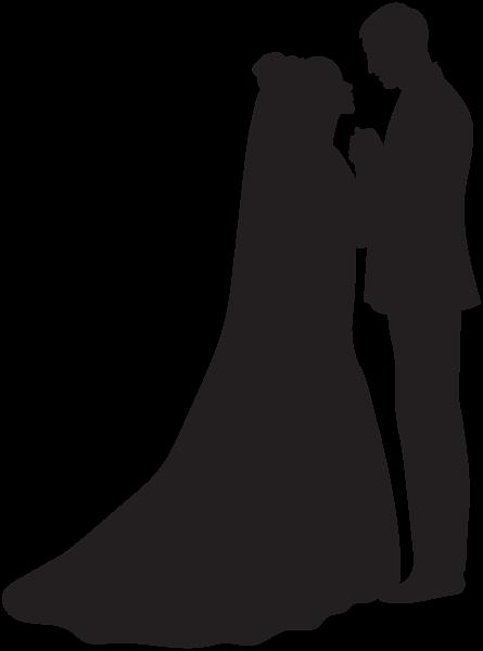العروس والعريس صورة ظلية Png صورة Bride And Groom Silhouette Silhouette Png Silhouette