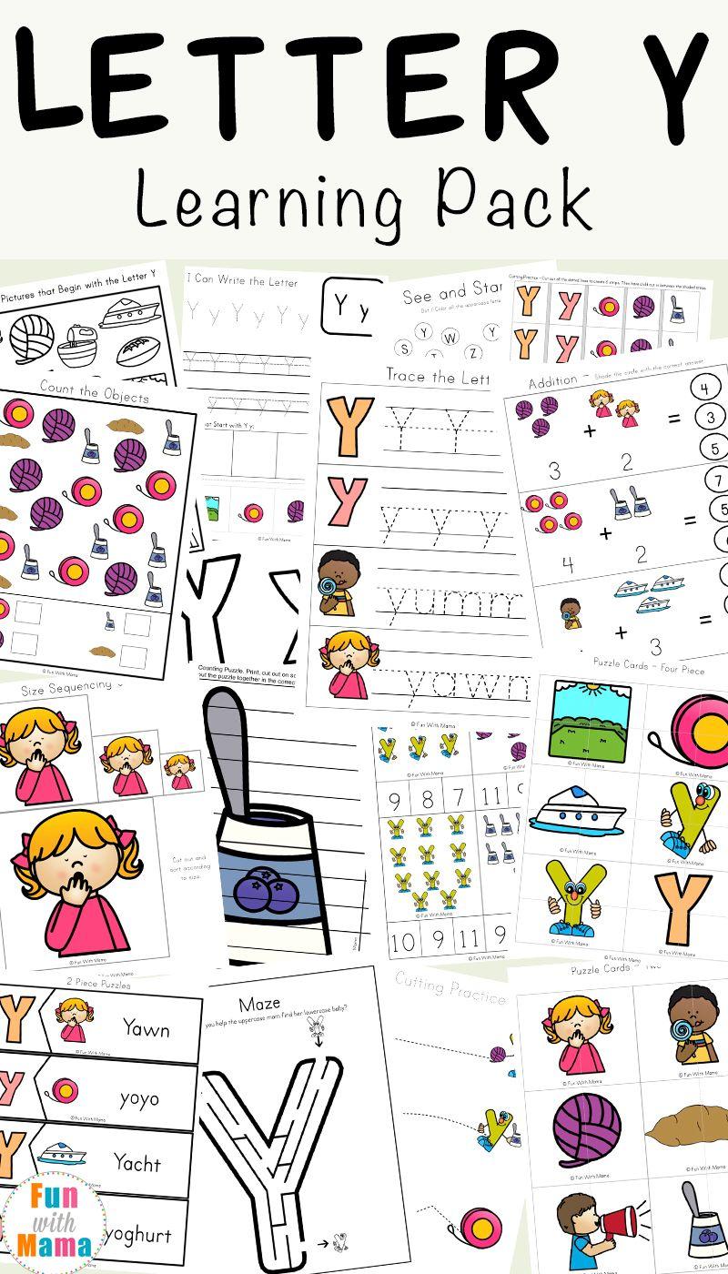 Letter Y Worksheets For Preschool Kindergarten Letter Y Worksheets Kindergarten Worksheets Kindergarten Letters