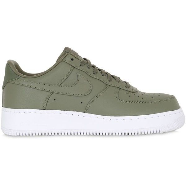 9fbfd51c2 Nike Men Nike Lab Air Force 1 Low Sneakers ($200) ❤ liked on Polyvore  featuring men's fashion, men's shoes, men's sneakers, army green, mens low  top shoes, ...