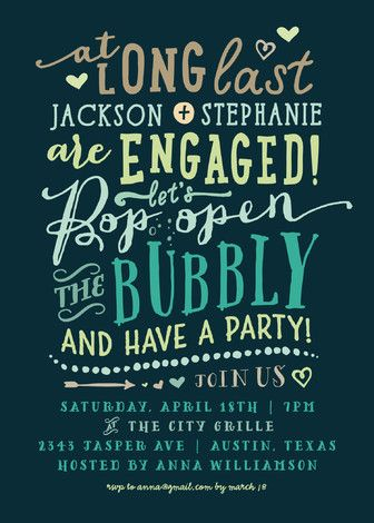 22 Engagement Party Invites To u0027Say Yesu0027 To! Engagement party - how to word engagement party invitations