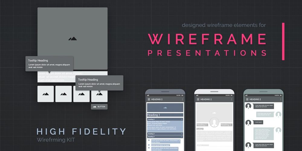 Free Wireframe Element Kit Wireframe Tools Kit