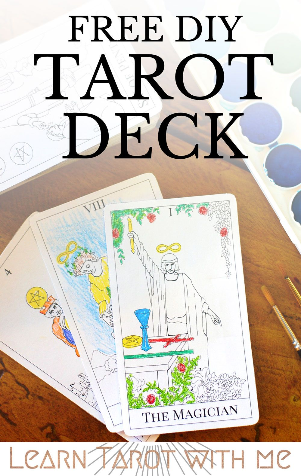 Print and color your own tarot deck you can download