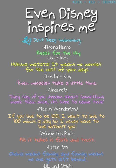 Even Disney Inspires Me Disney Pinterest Disney Quotes
