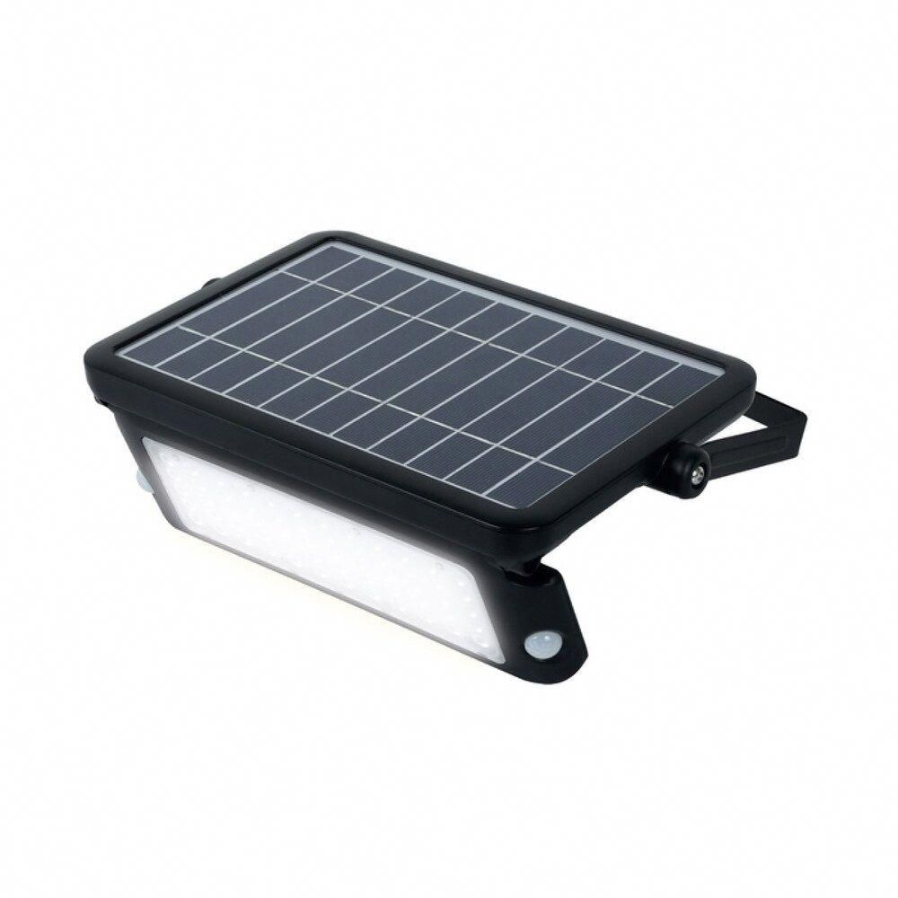 10w Solar Guardian Pir Wall Light 1080lm 4000k Ip65 Black In 2020 Solar Powered Flood Lights Solar Deck Lights Solar Flood Lights
