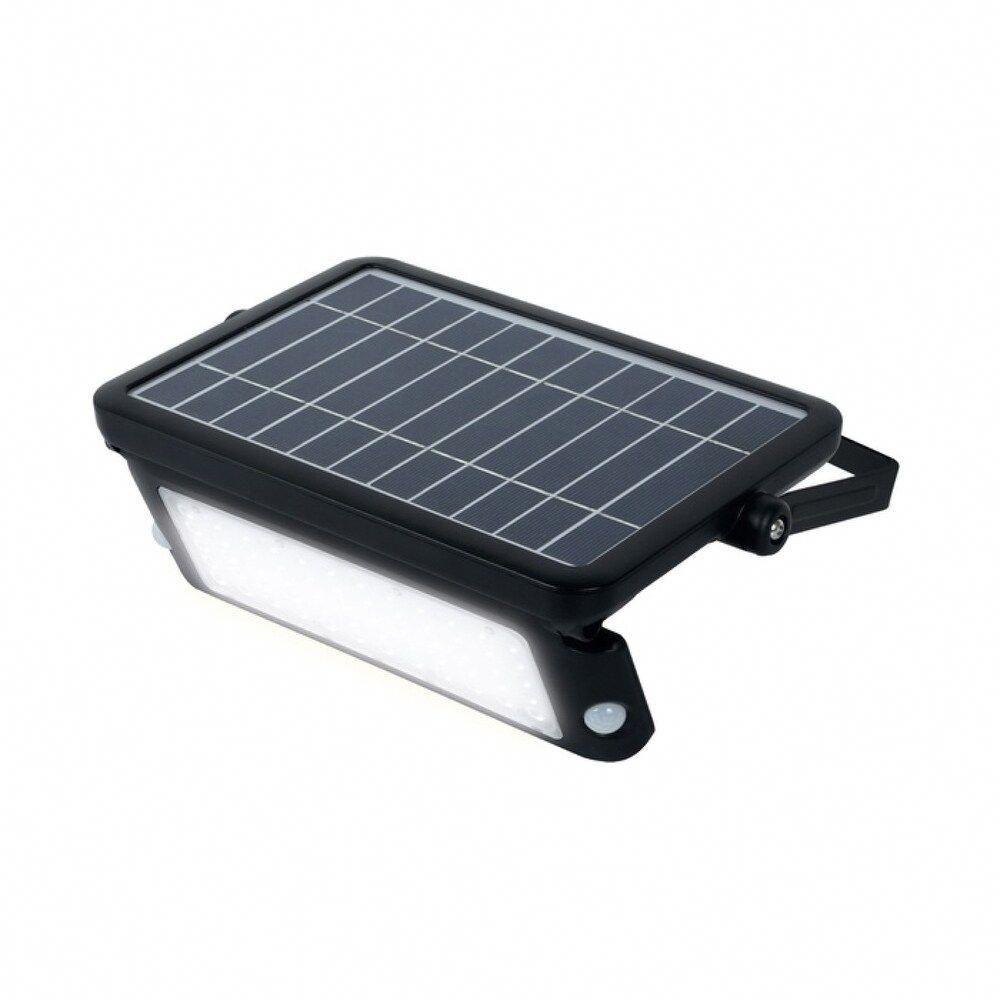 10w Solar Guardian Pir Wall Light 1080lm 4000k Ip65 Black In 2020 Solar Powered Flood Lights Solar Deck Lights Solar Flood Lights