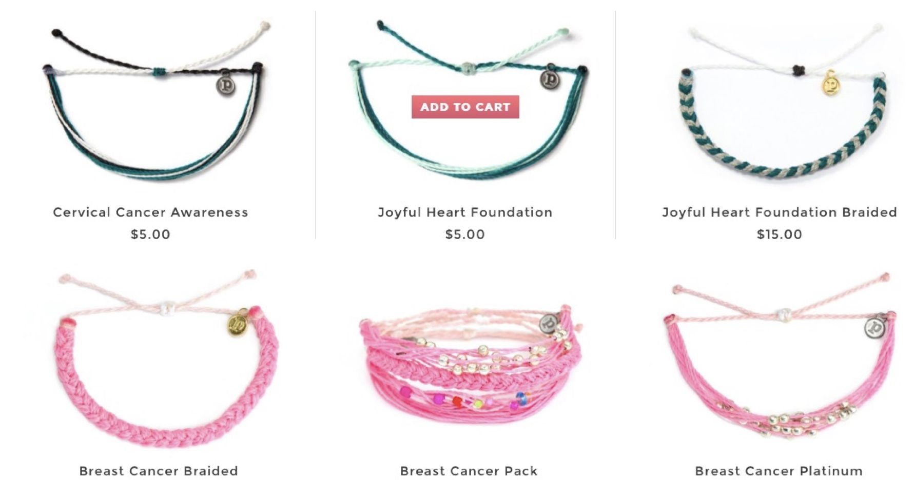 Bracelets Supporting Women's Causes