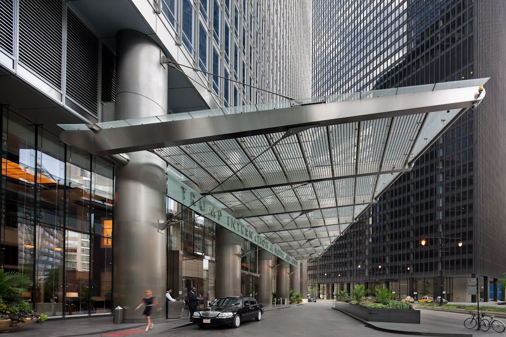 Trump Tower Entrance Canopy Som Glass Canopy Canopy