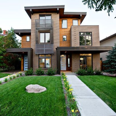 Modern Exterior duplexes Design Ideas Pictures Remodel and Decor