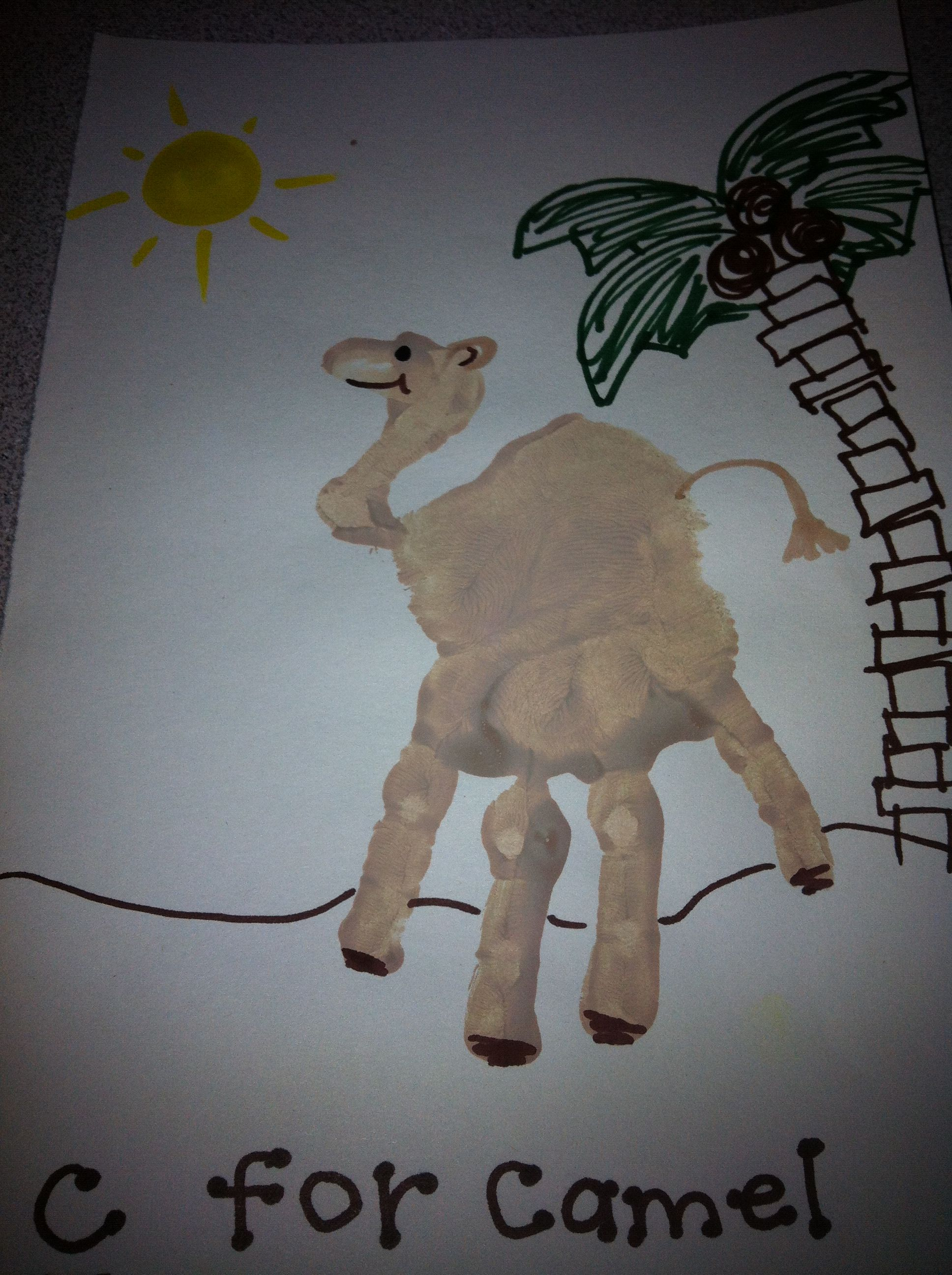 c for camel handprint