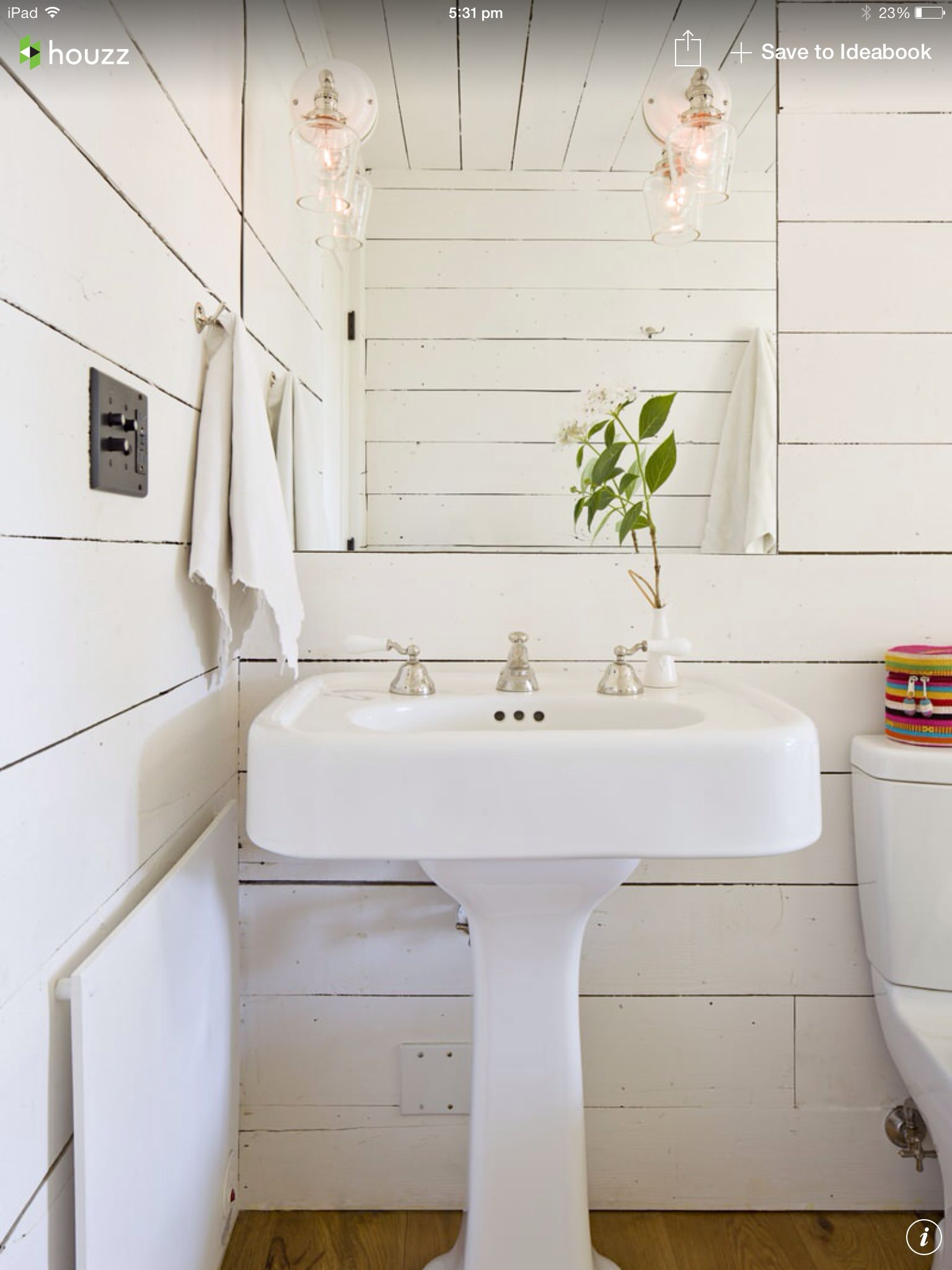 White boards - country style bathroom | Cuarto de baño | Pinterest ...