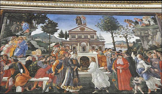 La Chapelle Sixtine Au Vatican Les Tentations Du Christ Le