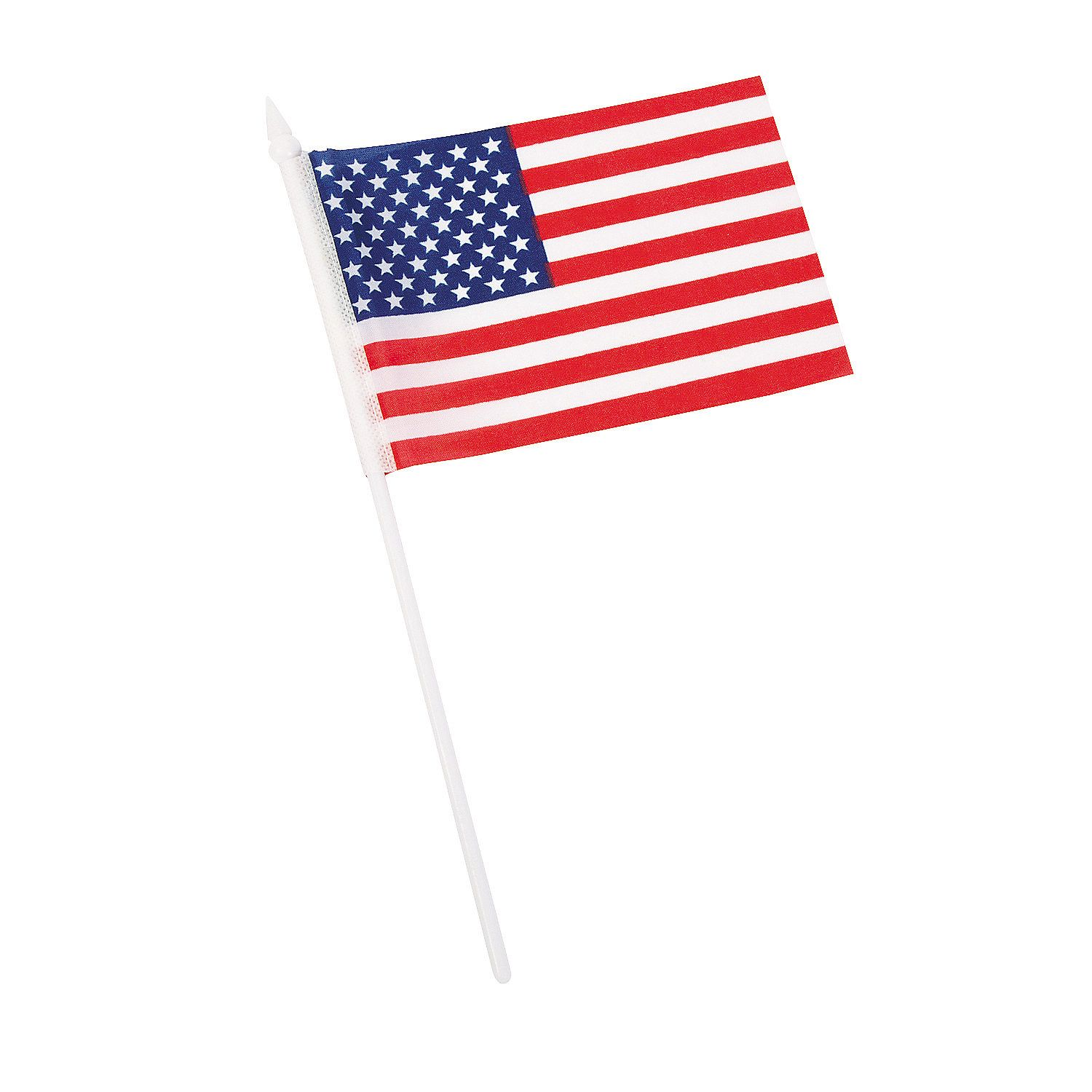 """Small American Flags on Plastic Sticks 6"""" x 4"""" Small"""