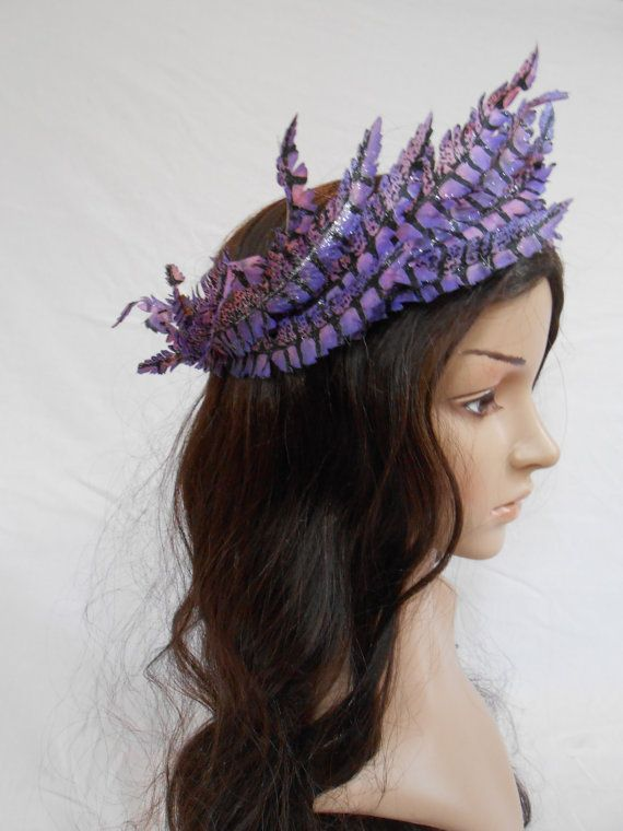 Purple pegasus feather  fairy crown. Currently for sale on Etsy