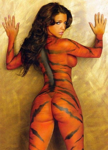 body paint Vida guerra tiger