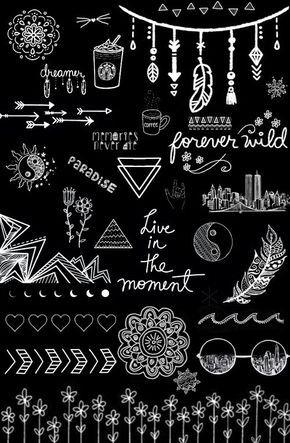Black And White Wallpaper Overlays Transparent Tumblr