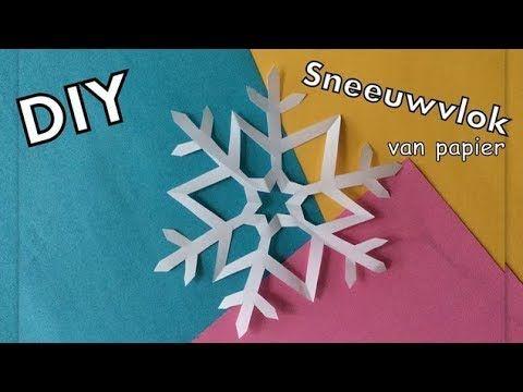 Diy Decoratie Sneeuwvlok Knutselen Van Papier Makkelijk Diy Life Mama Nederlands Youtube Sneeuwvlokken Sneeuwvlok Knutsels Knutselen Met Papier