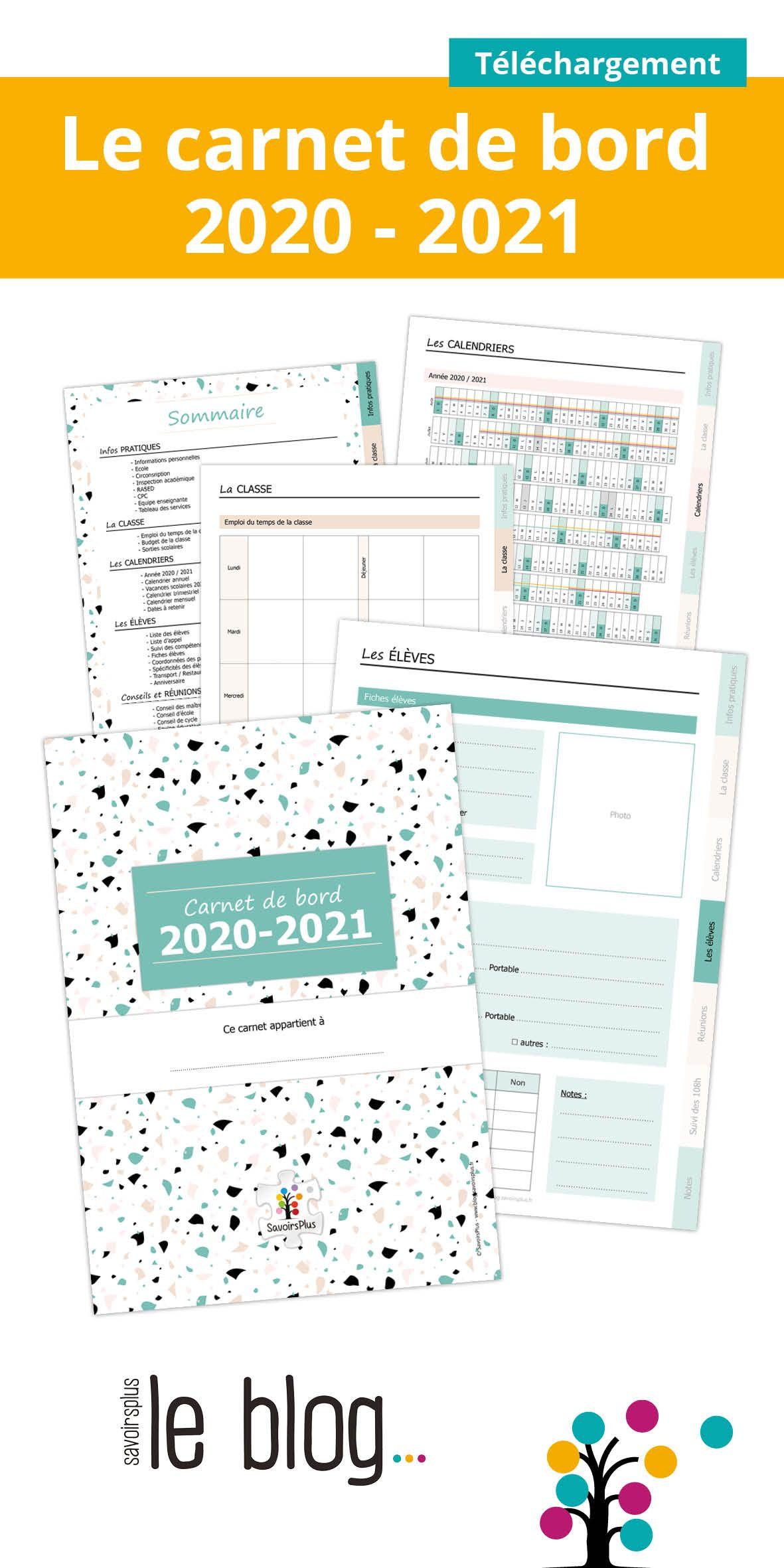 Téléchargement Carde bord de l'enseignant 2020   2021
