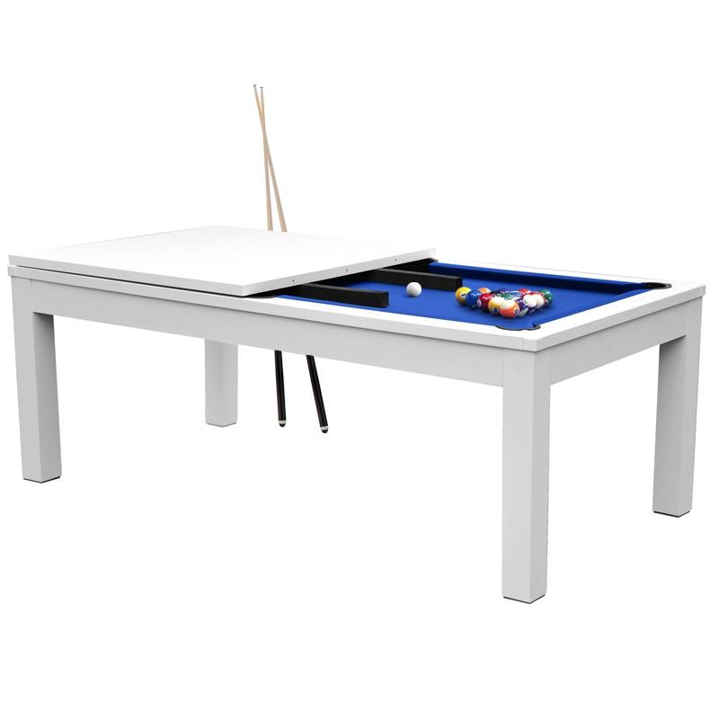 Table De Billard Convertible Blanche Tapis Bleu Billard Convertible Table De Billard Billard
