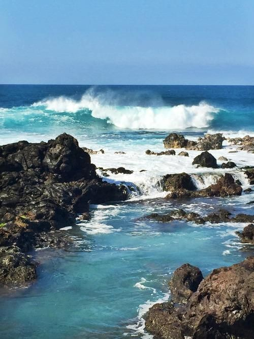 These are the small waves at Ho'okipa on Maui. (Leah Ginsberg)