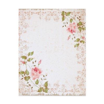 vintage floral wedding letterhead by itsyourwedding