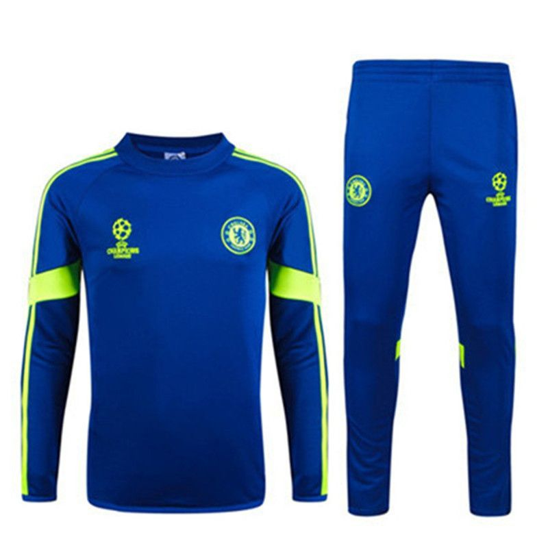 Aliexpress.com   Buy New Chelsea tracksuit spain Champions League Training  Suit Chelsea Soccer Tracksuit 14 15 Football Training Suit jacket pants  from ... cf351637daf