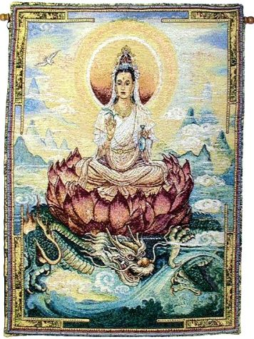 Quan Yin wall hanging 30% off TYPE MAR14 at checkout at Inner Path Store