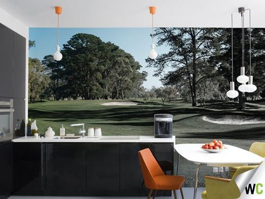 Wall Mural Of Rossdale Golf Club In Melbourne The Fading Colour