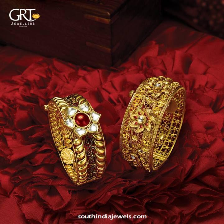 Designer Gold Floral Necklace from Anjali Jewellers | Gold ...