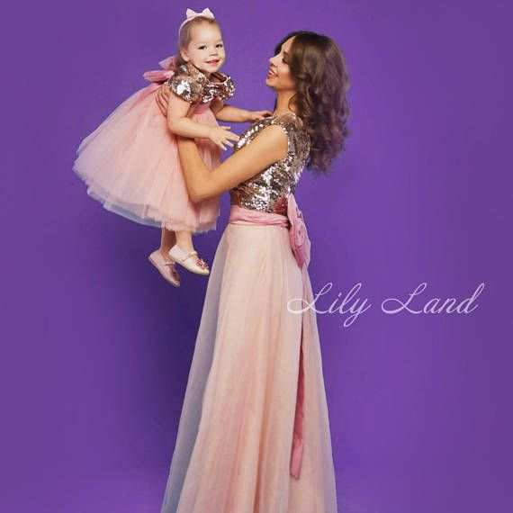 Mother Daughter Matching Dress Tutu Mommy And Me Perfect For Special Events Photoshoots Wedding Birthday Party Holidays