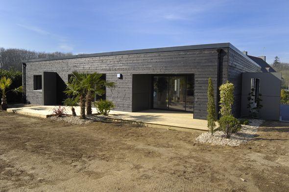 Réalisations de maisons - Groupe Trecobat maisons toit plat - maison toit en verre