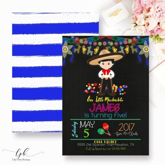 3f8cc631db53 Fiesta Birthday Invitation Mexican Fiesta Invitation Charro