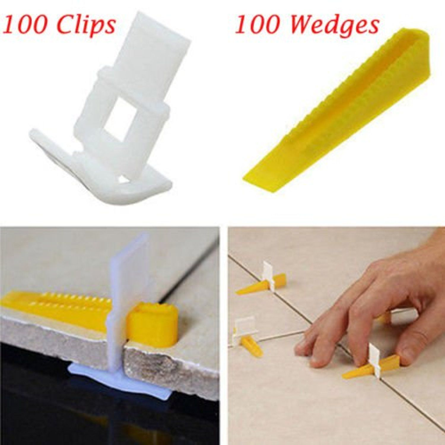 Whosee 100clips 100 Wedges 200 Tiles Leveler Spacers Lippage Tile Leveling System Diy Awesome Products Selected By Tile Leveling System Tiles Tile Spacers