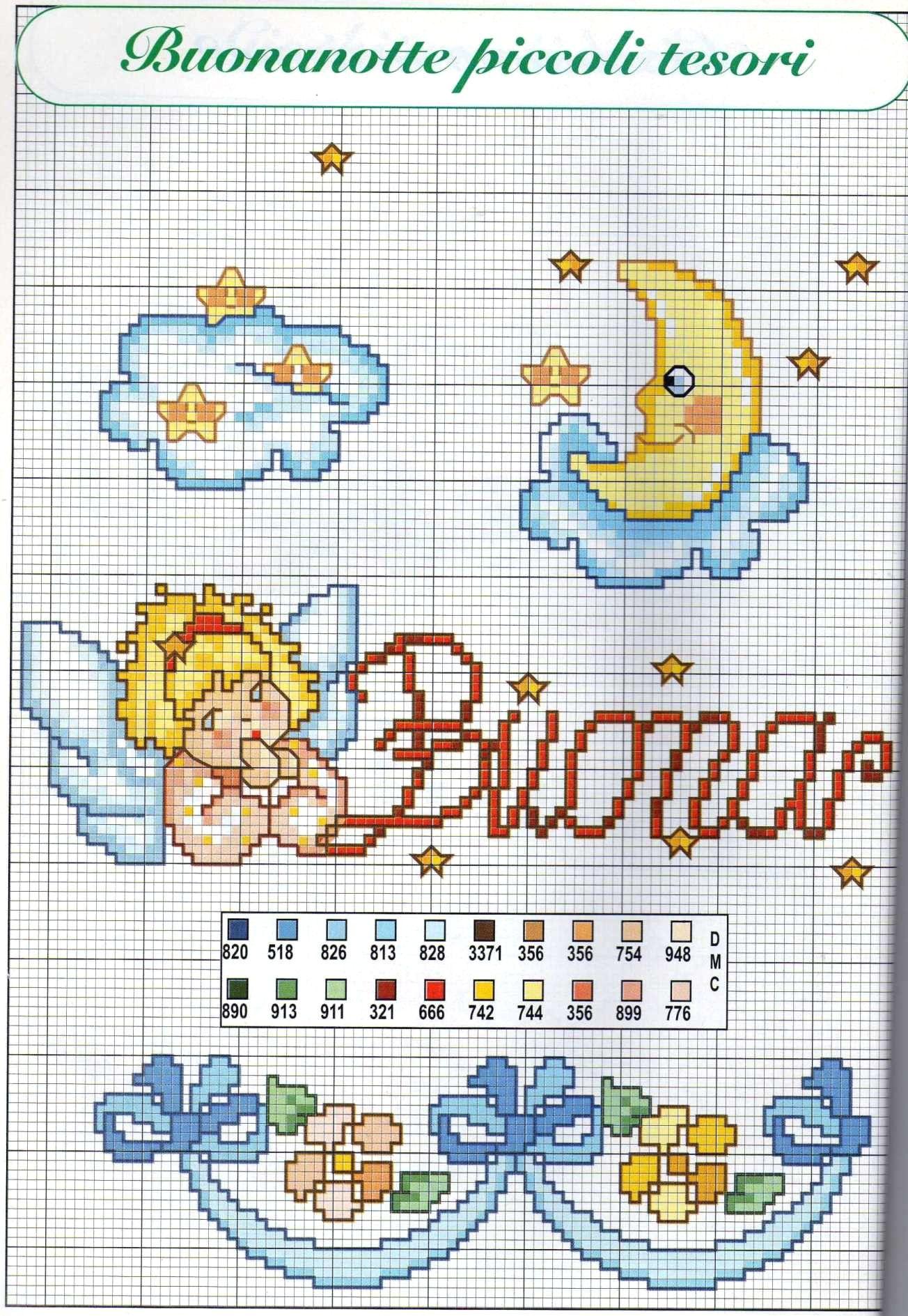 Beautiful Design Disegni Bambini Punto Croce 96 Con Schemi Punto