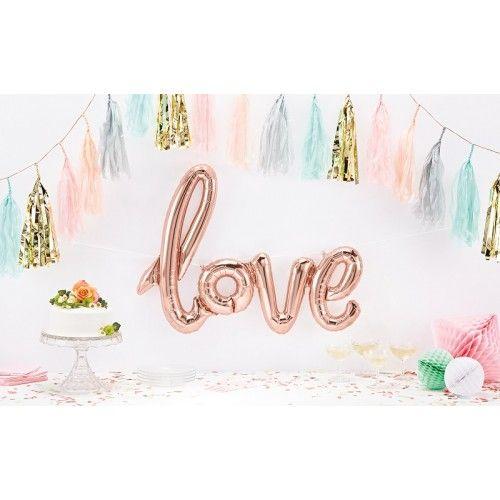 Rose Gold Love Word Balloon