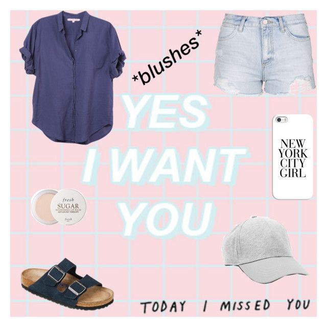 """Reflexes"" by forevera-dreamer ❤ liked on Polyvore featuring Xirena, Topshop, Birkenstock, Casetify and Fresh"