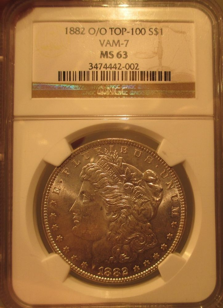 1882 O O Silver Morgan Dollar 1 Ngc Ms 63 Vam 7 Graded Rare Us