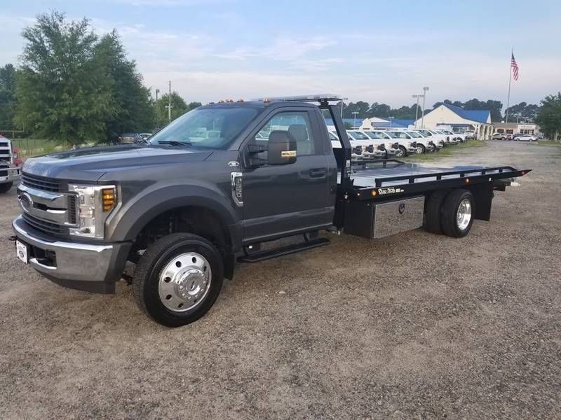 2018 Ford F 550 With 19ft Dual Tech Lo Pro Rollback Wrecker Tow
