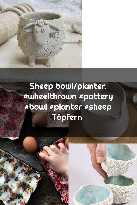 Sheep bowl/planter. #wheelthrown #pottery #bowl #planter #sheep Töpfern