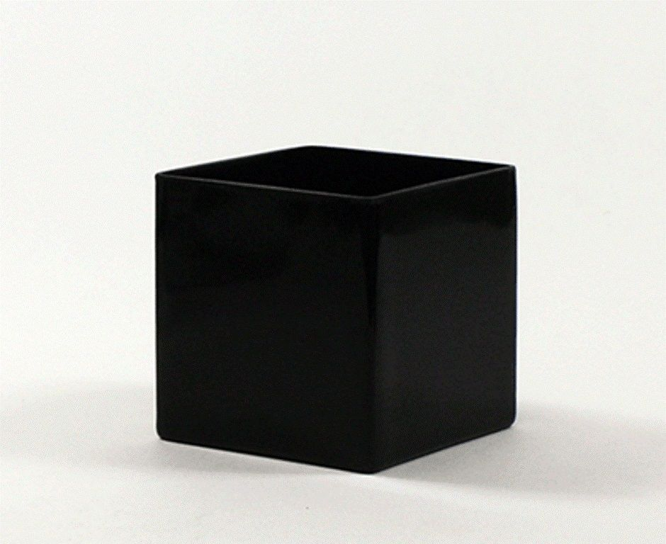 5 Black Square Vases 5 Black Cube Vase These Are Cool To Add