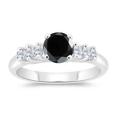 stunning black diamond engagement rings