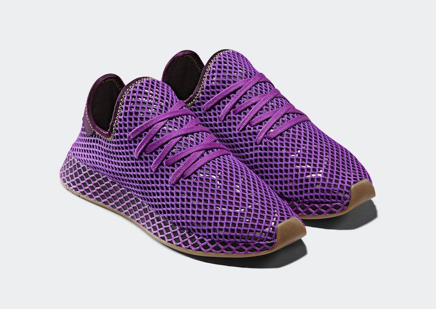 "the best attitude db78c aef3e Dragon Ball Z x adidas Deerupt ""Son Gohan"" Color  Shock Purple Red  Night-Shock Yellow Style Code  D97052 Release Date  October 27, 2018 Price    100 ..."