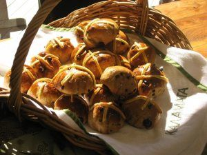 My easter buns and the poem inspired our Good Friday mulled wine ritual