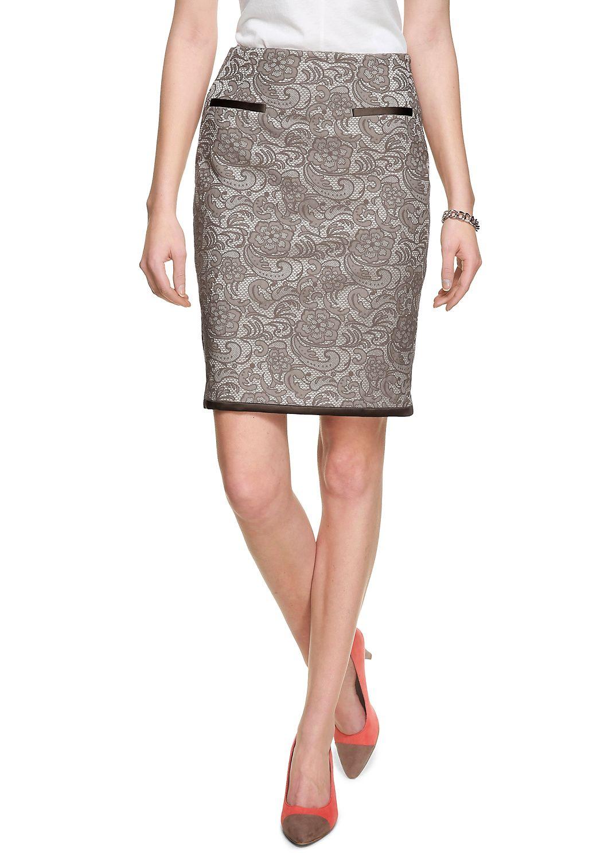 Skirt Jaquard Rock in Spitzenoptik 65% Cotton - 32% Polyester-3% Elastan