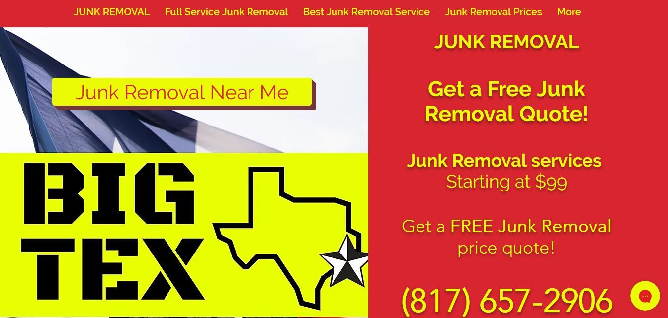 Big tex junk removal has been serving residential and